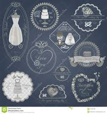 set of vintage wedding and wedding fashion style logos vector l