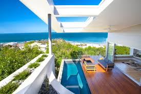 Home Design Group Terrace And Swimming Pool Design In Modern Coolum Bays Beach House