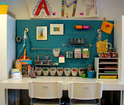 arts and crafts study room pictures kids eclectic with hanging