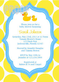 theme duck baby shower invitations