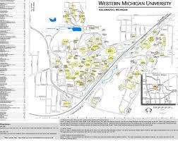 Map Of University Of Michigan Map Of Western Michigan University Michigan Map