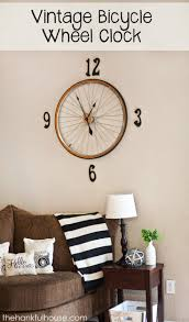 13 best exile images on pinterest wall murals wall stenciling vintage bicycle clock the hankful house