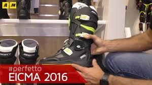 mx motorbike boots scott 550 series motocross boots eicma 2016 youtube