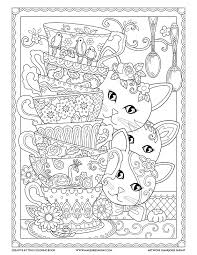 stack teacups creative kittens coloring book marjorie