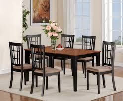 Modern Chess Table Beautiful Kitchen Dinner Set With Black Chair And White Rug On