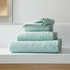 Crate And Barrel Shower Curtains Ribbed Seafoam Bath Towels Crate And Barrel