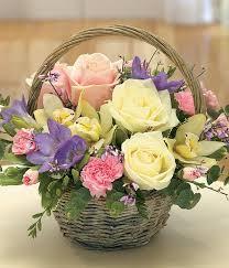 flower basket simply scented fragrant mothers day flower basket arrangement