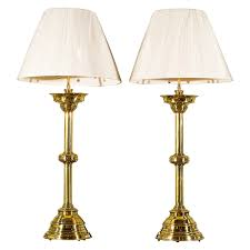 Unique Buffet Lamps by Pair French Brass Candlestick Lamps Candlesticks Modern Table