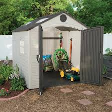 Backyard Shed Kit Lifetime 8x7 5 Ft Plastic Outdoor Storage Shed Kit 60015