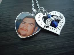 in loving memory charms memory loss necklace with name and heart photo charm
