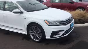 white volkswagen 2017 white vw passat r line youtube