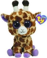 ty beanie boos plush safari giraffe beanie boo