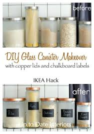 ikea kitchen canisters diy glass canister makeover ikea hack glass canisters ikea