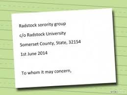 letter of interest for a sorority sample u0026 templates