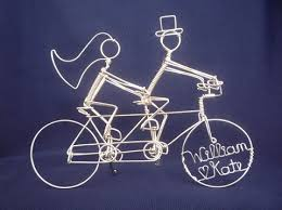 bicycle cake topper wedding cake bling bead and wire cake toppers the beading
