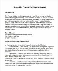 cleaning service proposal templates 7 free word pdf format