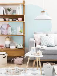 jeux de decoration de salon et de chambre graphik pastel design trend maisons du monde pastel interiors