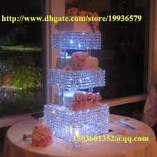 3 tier wedding cake stand 3 tier square clean cup cake dessert stand d 11 13 15 h