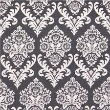 charcoal grey ornaments fabric ashe damask by dear stella usa