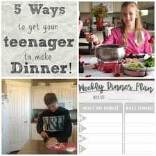 5 tips to get your teenager to make the family dinner healthy