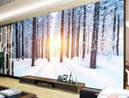 discount winter wallpapers 2017 winter wallpapers on sale at hd trees winter snow landscape tv background wall paintings mural 3d wallpaper 3d wall papers for tv backdrop winter wallpapers on sale