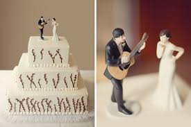 guitar cake topper wedding cake twigs and cake topper of with guitar singing
