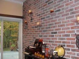wallpaper for exterior walls india interior brick wall ideas with innovative candles lighting on the