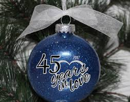 25th wedding anniversary christmas ornament ornament bzs beautiful 25th anniversary ornament