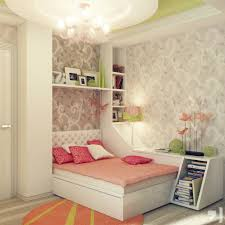 awesome calm bedroom design with nice small cabinet and pink bed