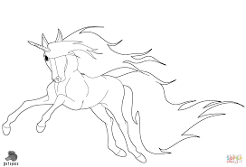 running unicorn coloring page free printable coloring pages