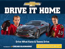 chevy drives chicago blackhawks camaro chevrolet dealerships in chicago chicagoland northwest indiana