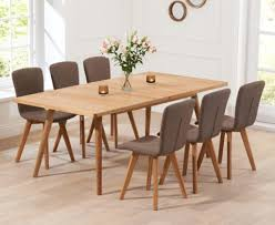 Oak Dining Table Chairs Mesmerizing Extending Oak Dining Table Sets Great Furniture