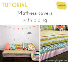 How Big Is A Crib Mattress by Tutorial Mattress Covers With Piping U2013 Straightgrain