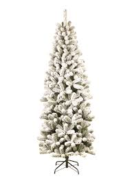7 foot prince flock pencil artificial tree unlit king