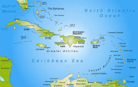 Map Of The Caribbean Large Location Map Of Cuba North America Mapsland Entrancing On