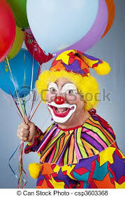 balloons clown clown with balloons portrait of happy clown holding a bunch