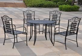 outdoor iron table and chairs wrought iron table and 4 chairs relaxing life