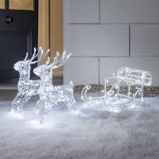 Outdoor Reindeer Christmas Decorations Ireland by Outdoor Christmas Reindeer Outdoor Christmas Decorations Ebay