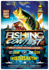 free halloween flyer background fishing contest flyer template tds