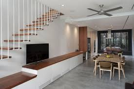 Simple Stairs Design For Small House Cool Small House Decorating For Dining Room With Wooden Table And