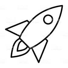 rocket line icon business startup symbol vector pictogram stock