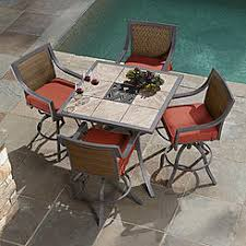 High Top Patio Furniture by Patio Dining Sets Outdoor Dining Chairs Sears