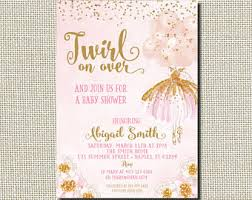 ballerina baby shower invitations ballet baby shower etsy
