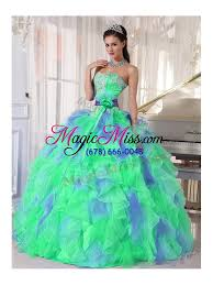 aqua green quinceanera dresses green and blue sweetehart ruffles and appliques quinceanera dress