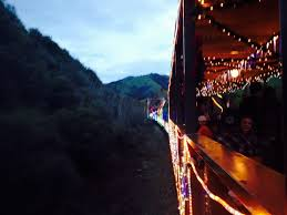 sunol train of lights train of lights shortly after 4 30pm departure in mid december yelp