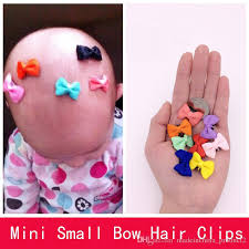 barrettes hair solid dot infant baby mini small bow hair boutique barrettes