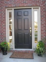 White Front Door White Front Door Design With Single Sidelight Decofurnish