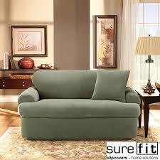 stretch pique 3 piece t cushion loveseat slipcover free shipping