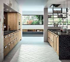 cuisines sagne cuisine contemporaine en stratifié en bois avec îlot truro