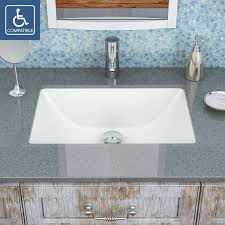 best undermount bathroom sink decolav callensia 1402 series rectangular undermount vitreous